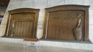 Eaton brass war memorial plaques