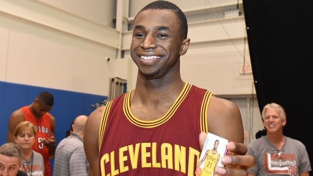 Canadian basketball standout Andrew Wiggins, seen here at a recent NBA rookie photo shoot, has been dealing with trade rumours just a few weeks after the Cleveland Cavaliers drafted him first overall. The 19-year-old small forward has had his name linked with Minnesota all-star forward Kevin Love.