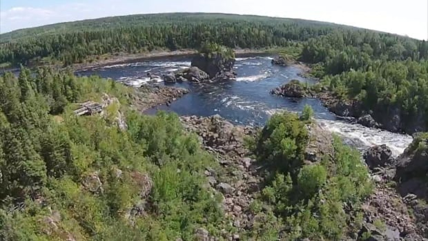 Robert Gardner has been using his drone to get aerial footage of local attractions in central Newfoundland, like the Exploits River.