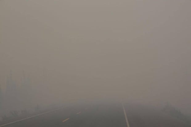 NWT Highway 3 smoke conditions