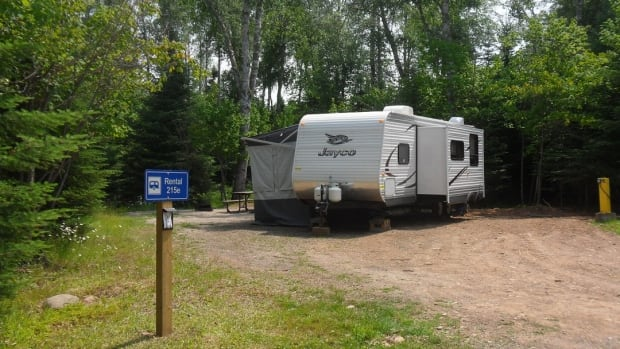 Trailers such as this one at Sleeping Giant Provincial Park are now for rent at some northwestern Ontario campgrounds.