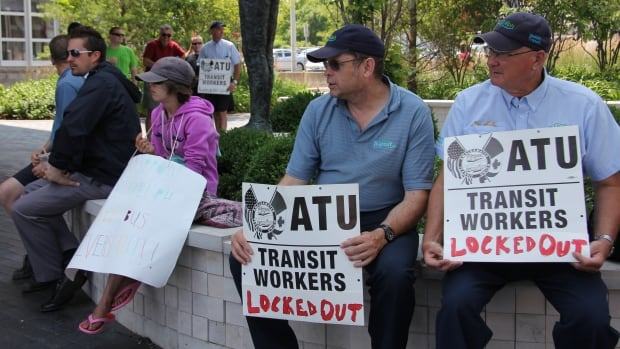 The city locked out transit workers on July 21 after union members rejected a tentative contract.