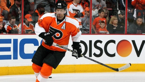 Philadelphia Flyers defenceman Kimmo Timonen signed a one-year contract this summer worth $2 million US.