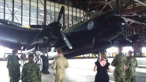 Vera the Lancaster is shown in a hangar in Happy Valley-Goose Bay prior to departing for England late Wednesday morning.