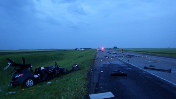 A 20-year-old man from Lang died after his car collided with a semi on Tuesday.