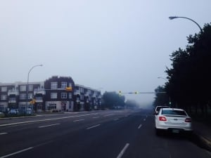 Fog near CBC Sask Aug 7