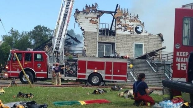 The former St. Theresa Child of Jesus Catholic Church in Bathurst was destroyed by fire on Thursday.