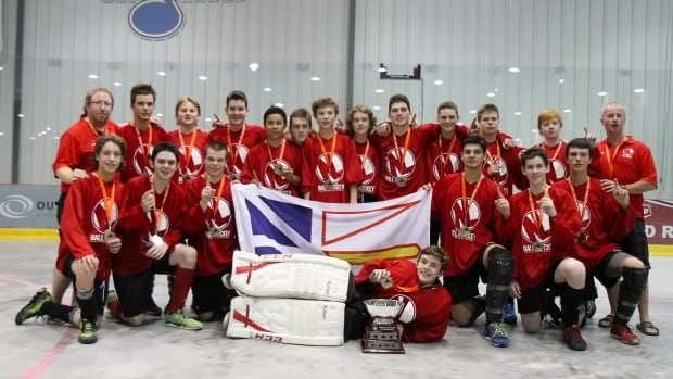 Team Newfoundland won the under-15 Boys national championship for ball hockey in Winnipeg.