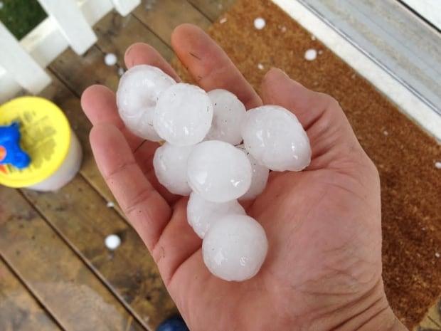 Airdrie hail