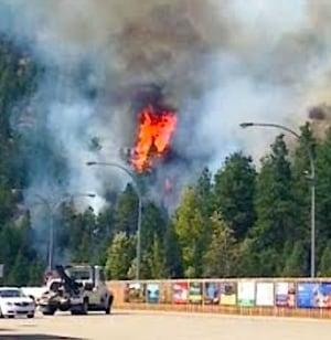 Peachland wildfire