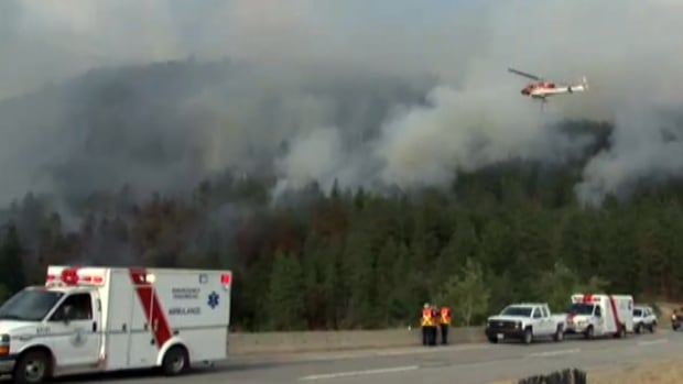 An evacuation order has been issued for a single home in West Kelowna due to a wildfire that began burning near Highway 97C Thursday afternoon.