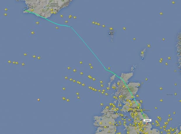 Lancaster Flight Path