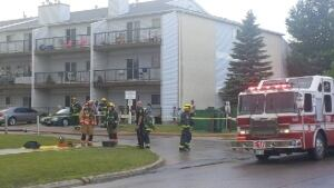 Fire hits apartment