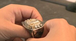 Apparent Elmer Lach Stanley Cup ring