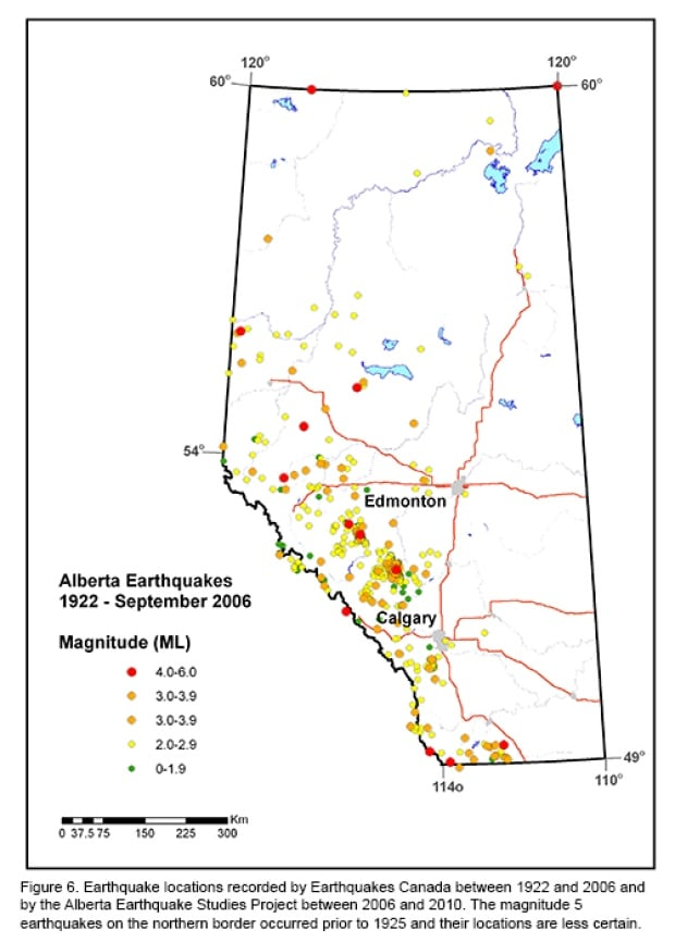 Alberta earthquake activity