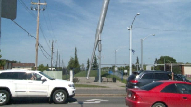 Edmonton's baseball bat, standing 14.9 metres tall on the corner of 97th Street and 118th Avenue, is now the second largest bat in Canada.