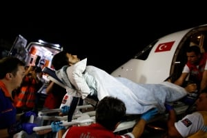 MIDEAST-GAZA/WOUNDED-TURKEY