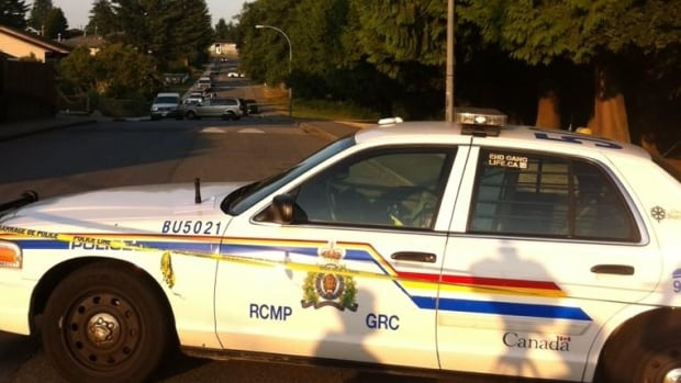 Police officers were at the edge of Robert Burnaby Park in Burnaby, B.C., Monday morning to investigate the scene where a man was shot and killed late Sunday night.