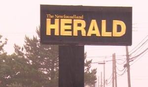 The Newfoundland Herald sign anti-gay letter response