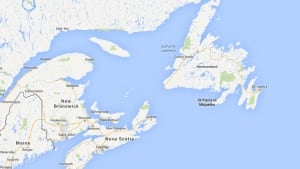 Atlantic Canada map