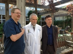 Doug Martens, Dr. Jerry Krcek and Howard Koks