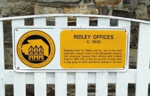 Ridley Offices sign in Harbour Grace