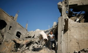 MIDEAST-GAZA-rubble