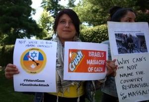 NDP Gaza Protest 20140806