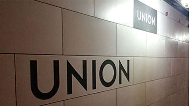 The new Union Station sign makes its first appearance on Monday along with a second platform and new access to PATH.