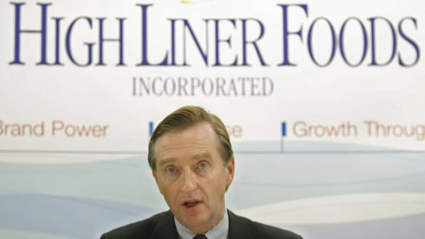 Henry Demone, CEO of High Liner Foods Inc., is shown in Halifax on May 10, 2006. High Liner Foods Inc. says lower margins and an unfavourable change in the exchange rate were among factor that contributed to a big decline in net profit in the second-quarter despite a strong increase in sales revenue.