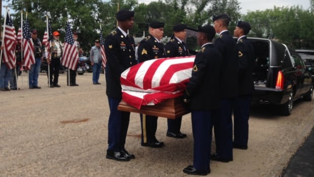 In Eastend, Sask., on Friday, U.S. soldiers removed the remains of PFC Lawrence Gordon from a hearse, the culmination of a process that took seven decades and covered thousands of kilometres.