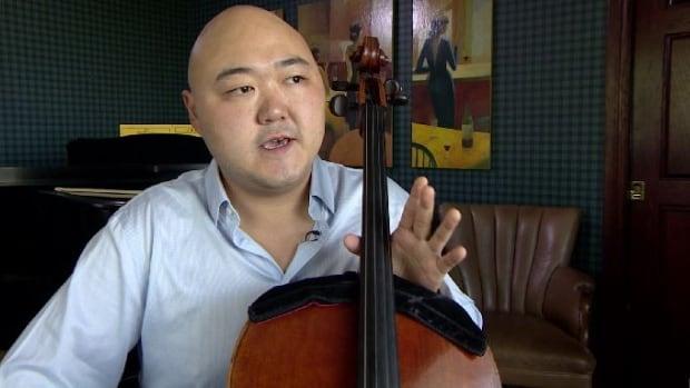 Cellist Arnold Choi will be playing his Stradivarius cello in Saskatoon on Thursday