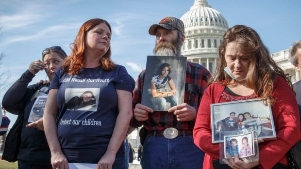 Family members of those who died in GM vehicles gather at the Capitol in Washington. Dozens died as a result of a flaw with an ignition switch in a range of small GM cars - among high-profile cases that have put the auto industry in the hot seat.