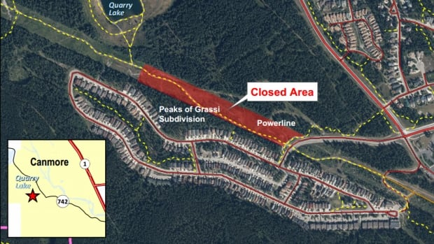 A bear closure at the Peaks of Grassi near Quarry Lake was put in place on July 20.