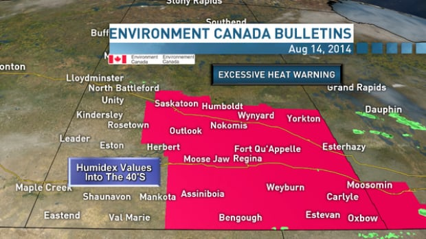 Heat warning in Saskatchewan