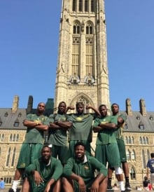 Edmonton Eskimos at Parliament Hill