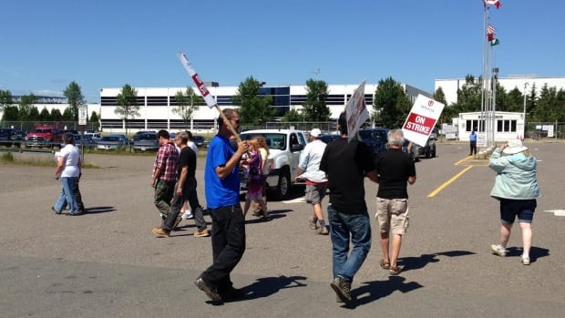 Bombardier workers have been on the picket line for a month. No new talks between their union, Unifor, and the company have been scheduled.