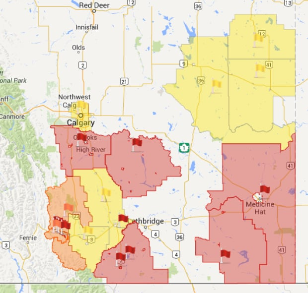 Fire bans Alberta