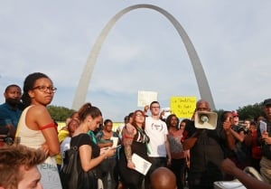 Michael Brown shooting vigil