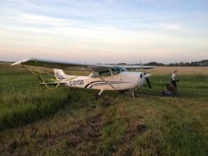 plane down near regina