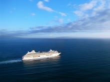 The Crystal Serenity cruise ship will make its inaugural voyage through the Northwest Passage, Aug. 16, 2016.