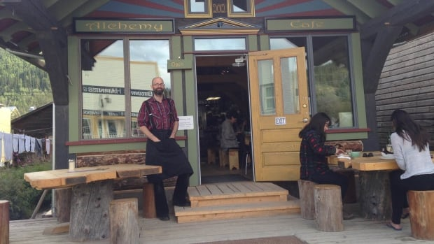 Florian Boulais spent the last couple of years constructing the log building now housing the Alchemy Cafe, which opened this summer in Dawson City.