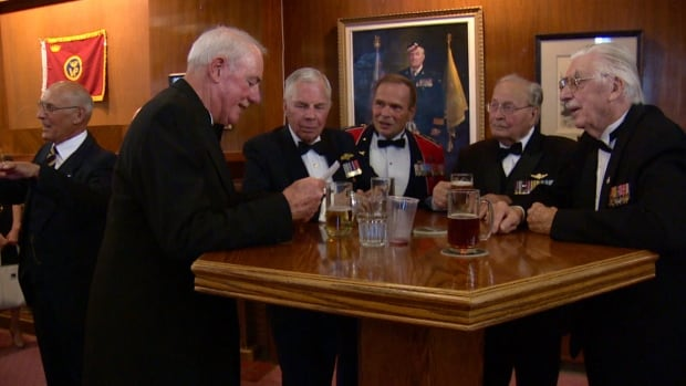 Current and retired members of the Princess Patricia Canadian Light Infantry marked the regiment's 100th anniversary in Calgary Friday evening.