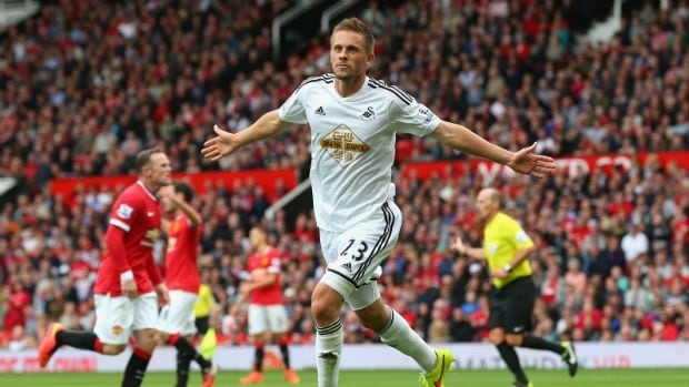 Swansea's Gylfi Sigurdsson scored the winner in the second half to spark a historic win against Manchester United.