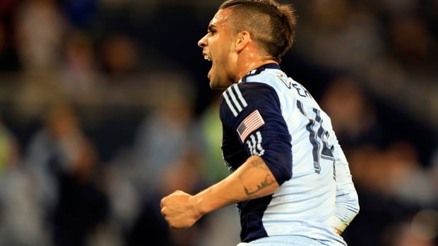 Dom Dwyer converts two penalty kicks for Sporting Kansas City on Saturday as they easily defeat Toronto FC 4-1.