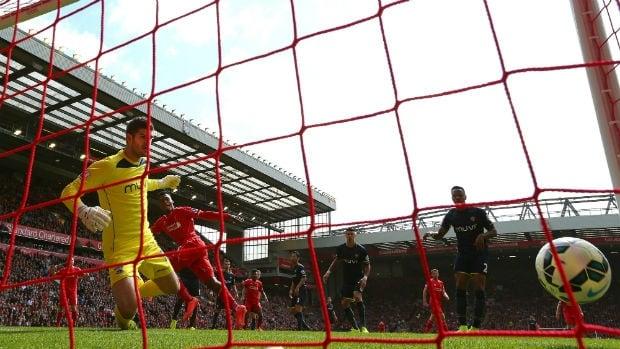 Liverpool's Daniel Sturridge scores the winner against Southampton.