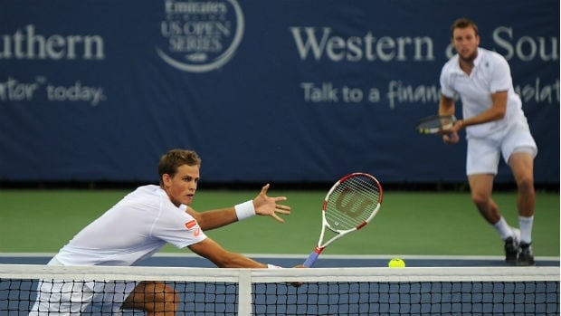 Vasek Pospisil, left, and Jack Sock won 14 consecutive matches since getting together on the eve of Wimbledon, setting a record for a new doubles pairing.