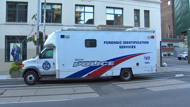 Two men were in serious condition after a stabbing in downtown Toronto in the early hours of Sunday, Aug. 17, 2014.