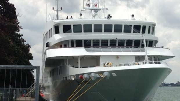 Pearl Mist, the luxury Great Lakes cruise ship, is docking in Windsor brining hundreds of American tourists to the city.