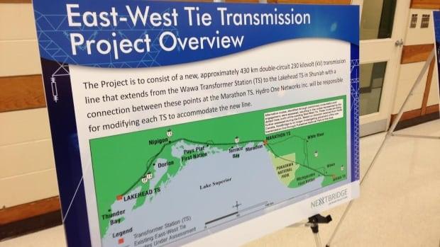 NextBridge Infrastructure's 400-kilometre-long power line will run from Wawa to Thunder Bay.
